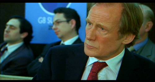 Lawrence (Bill Nighy), at the G8 in the Girl In The Cafe