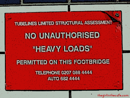 Heavy Loads not permitted