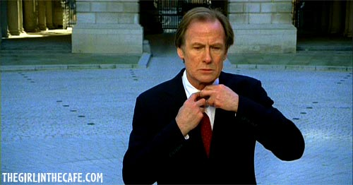 Bill Nighy - Lawrence - straightening his tie