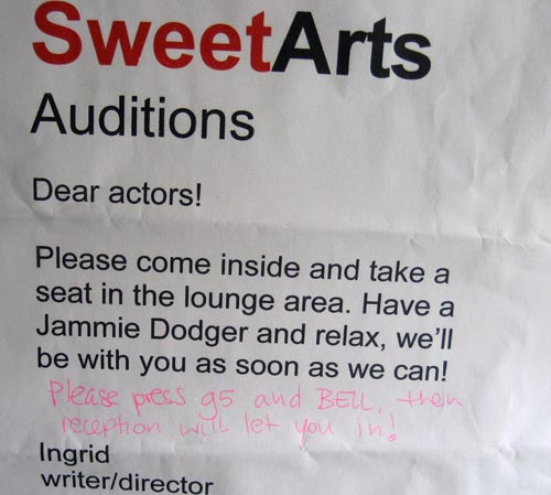 Sweetarts Auditions