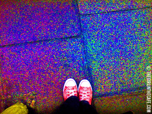 Me and my sneakers are about to enter the surreal world