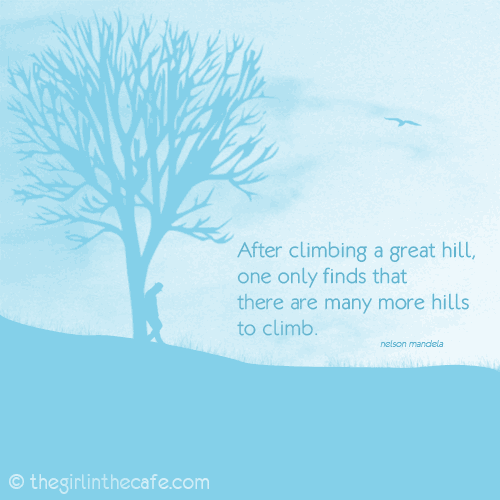 Climbing the hill ...